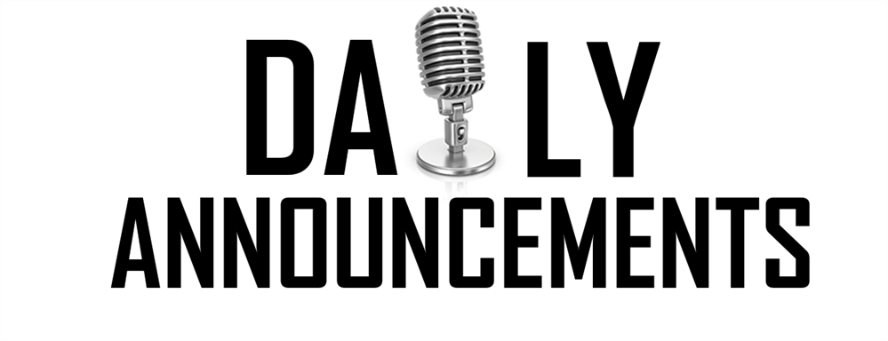 Daily Announcements / Daily Announcements