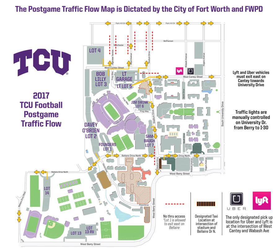 Tcu University Campus Map