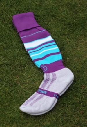 Hockey Kleding Kousen Purple White Blue Stripes