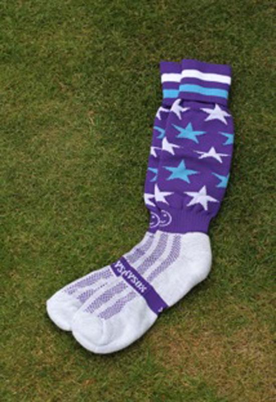 Hockey Kleding Kousen Star Smiley Purple