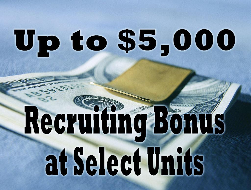 $2,000 Recruiting Bonus For New Cos