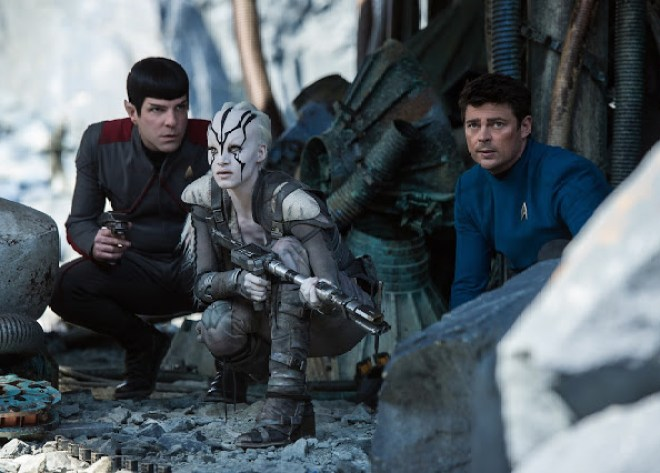 Star Trek Beyond: Zachary Quinto, Karl Urban, Sofia Boutella