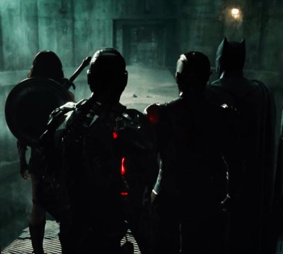Ben Affleck, Gal Gadot, Ezra Miller și Ray Fisher în Justice League