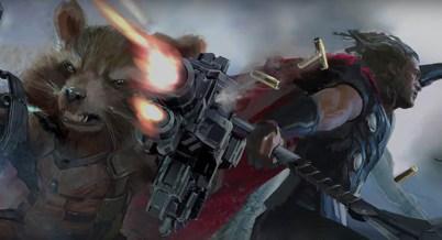 Avengers Infinity War: Rocket si Thor concept art