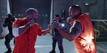 Dwayne Johnson şi Jason Statham în Furios Şi Iute 8