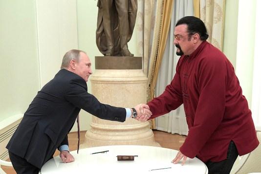 Steven Seagal şi Vladimir Putin