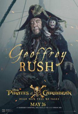 Pirații din Caraibe: Răzbunarea Lui Salazar Poster (Geoffrey Rush)