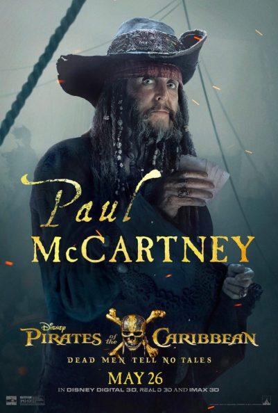 Pirații din Caraibe: Răzbunarea Lui Salazar Poster (Paul McCartney)