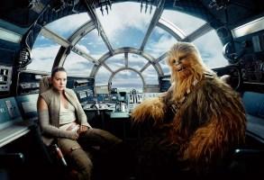 Star Wars: The Last Jedi (Rey şi Chewbacca)