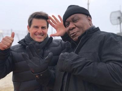 Mission: Impossible - Fallout (2018): Tom Cruise si Ving Rhames la filmari.
