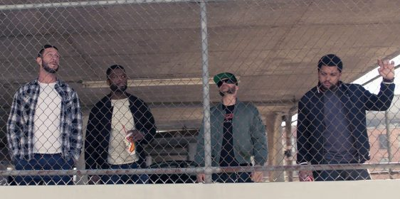 Pablo Schreiber, Curtis Jackson, Evan Jones and O'Shea Jackson star in DEN OF THIEVES