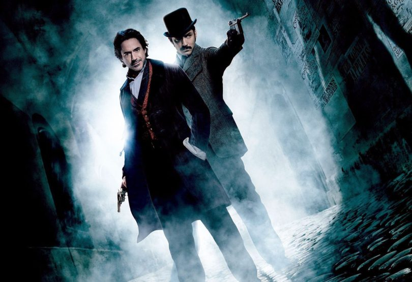 Robert Downey Jr. şi Jude Law în Sherlock Holmes: A Game Of Shadows (2011)
