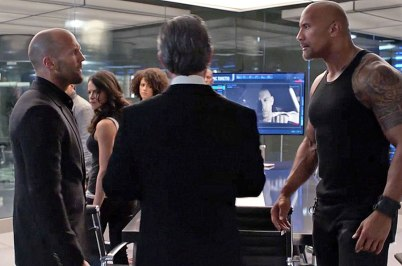 Luke Hobbs interpretat de Dwayne Johnson și Deckard Shaw interpretat de Jason Statham.