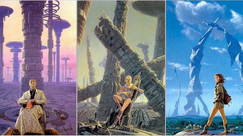 Coperţile trilogiei FUNDAŢIA De ISAAC ASIMOV