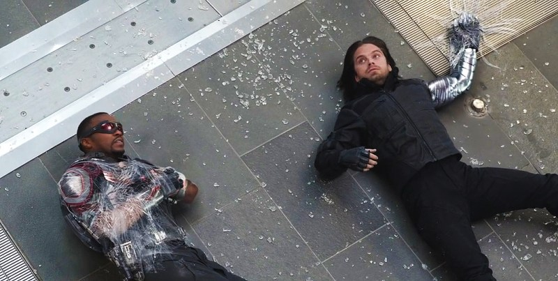 Falcon şi Winter Soldier în Captain America: Civil War