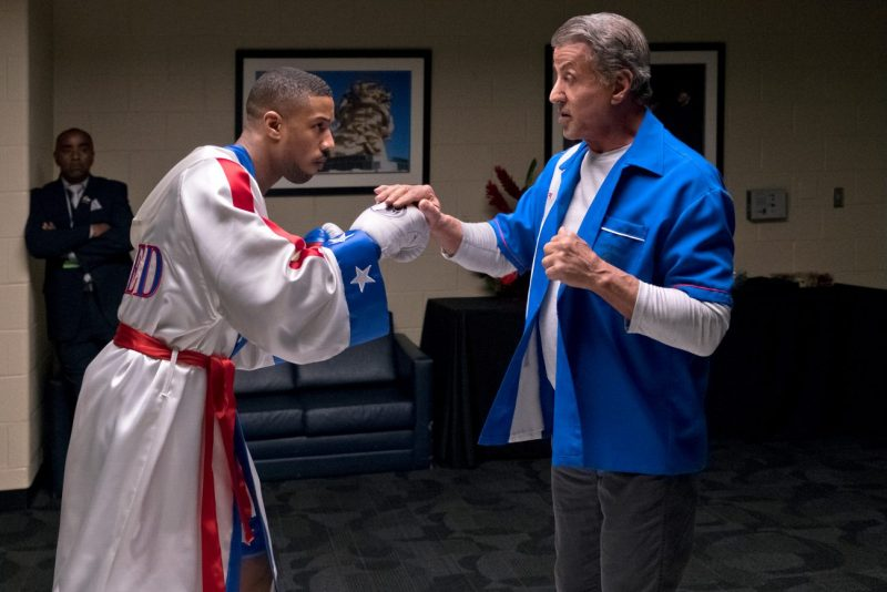 Michael B. Jordan stars as Adonis Creed and Sylvester Stallone as Rocky Balboa in CREED II