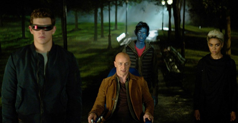 Tye Sheridan, James McAvoy, Kodi Smit-McPhee, and Alexandra Shipp in X-MEN: DARK PHOENIX.