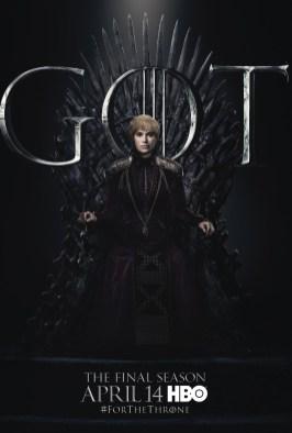 Poster Urzeala Tronurilor Sezonul 8: Cersei Baratheon