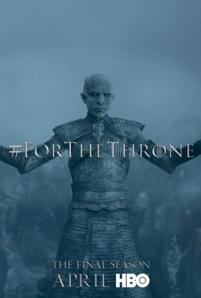 Poster Urzeala Tronurilor Sezonul 8: The Night King