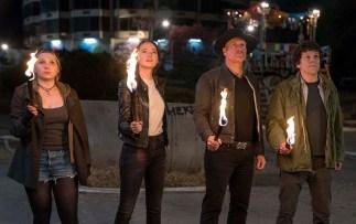 Little Rock (Abigail Breslin), Wichita (Emma Stone), Tallahassee (Woody Harrelson) si Columbus (Jesse Eisenberg)