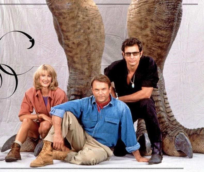 Laura Dern, Sam Neill şi Jeff Goldblum