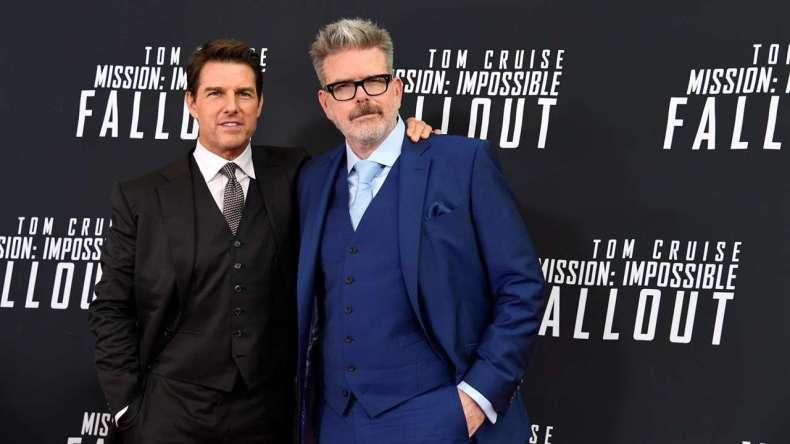 Tom Cruise şi regizorul Christopher Mcquarrie la premiera celui mai recent film Mission: Impossible - Fallout