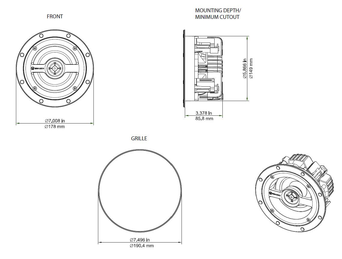Two Series Nfc 42 4 In Ceiling Speaker