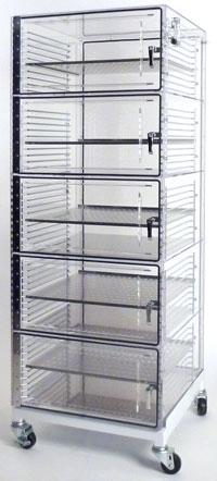 Acrylic Desiccator Storage Cabinets - High Density Storage