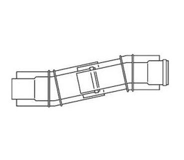 Vaillant Telescopic Offset (100mm Diameter) 303919