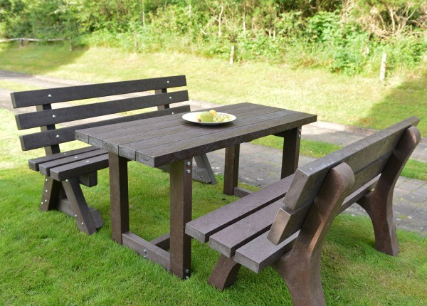 plastic patio furniture Recycled plastic garden furniture sets
