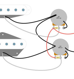 2 single coil 2 vol no switch no tone png [ 1200 x 782 Pixel ]