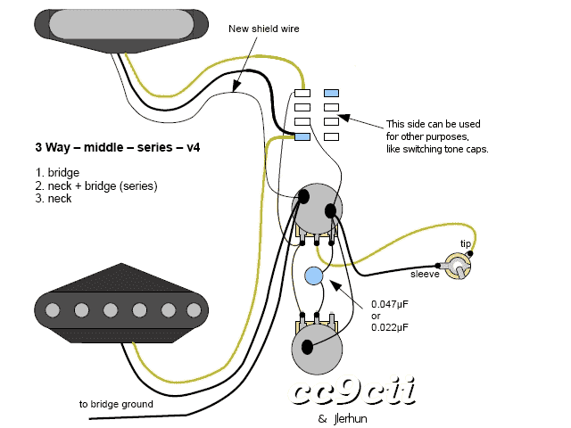 Series Wiring With 3 Way Telecaster Guitar Forum