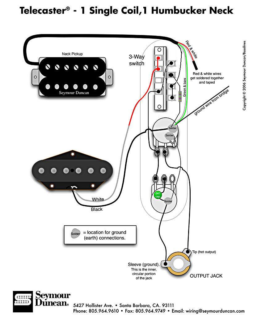 Pickup Wiring Diagram On In A Hot Rail Tele Pickup Wiring Diagram For