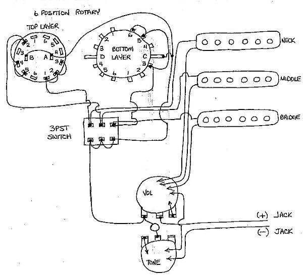 6 way rotary switch guitar wiring diagram