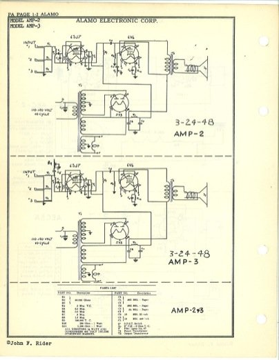 alamo amp schematics