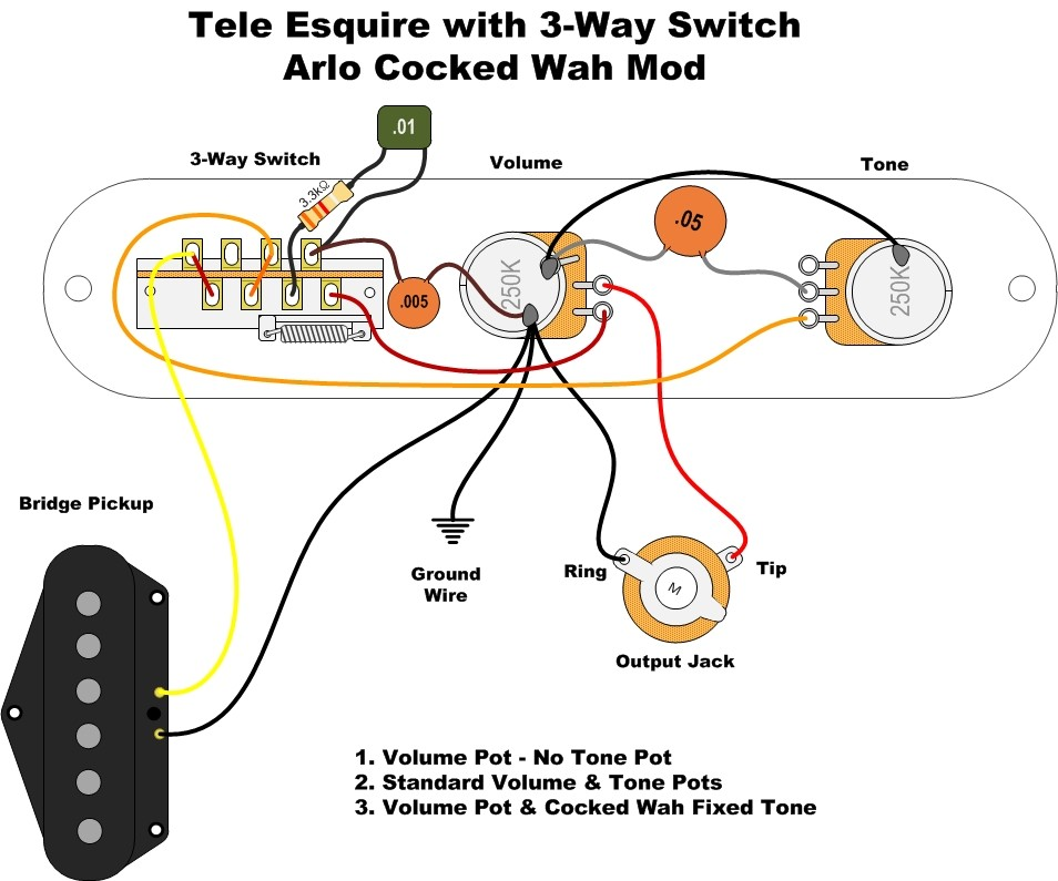 Tele Pots Switch Input Jack Wire Wiring Kit Diagram For Fender