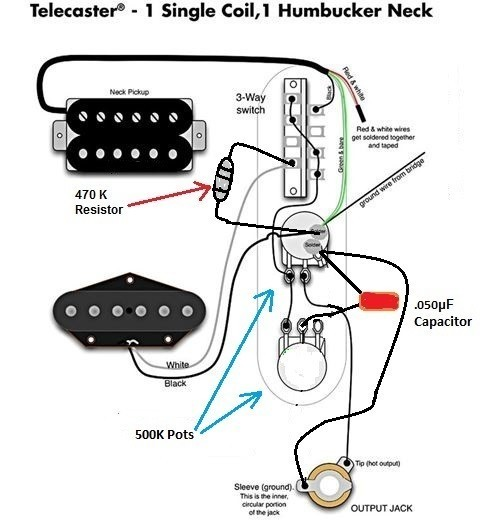 Single coil + lil 59 (HumBucker) into 4-way switch
