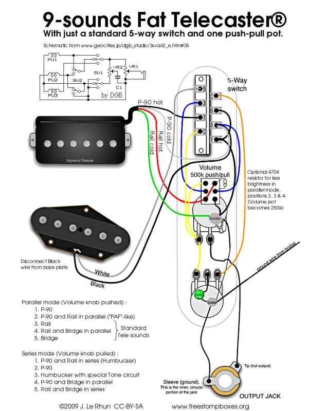 P90 Rail Pickup Wiring Diagram P90 Pickup Cavity