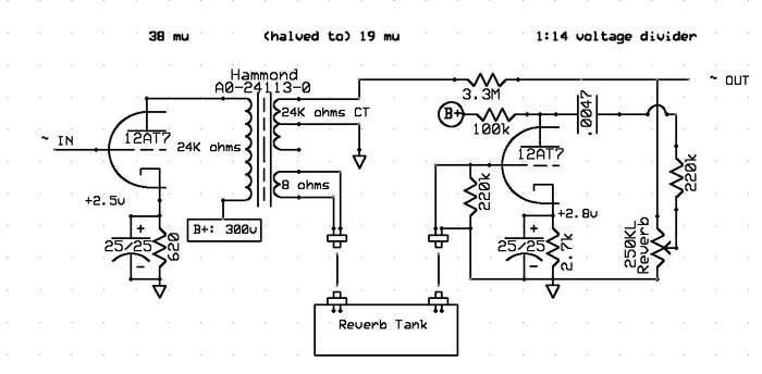 12ax7 tube wiring diagram