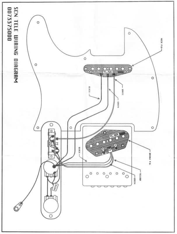 fender scn tele wiring diagram