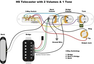 Tele wiring for 2 vol 1 tone with gibson toggle switch