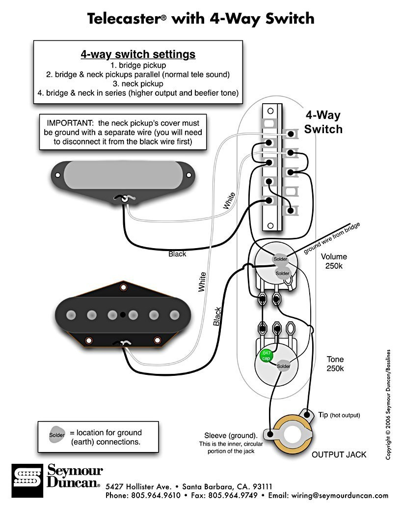 Wiring question for uncovered tele neck pickups