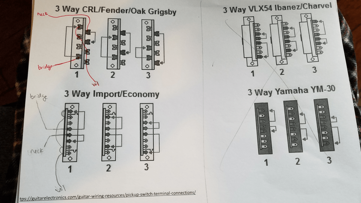 hight resolution of how to connect 3 way import switch telecaster guitar forum ibanez 3 way blade switch wiring