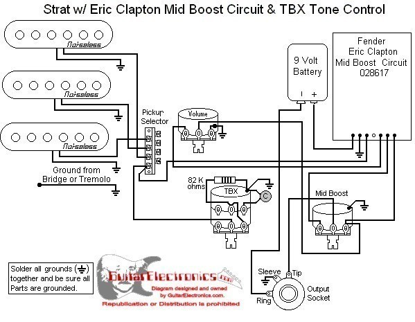 Eric Clapton Mid Boost Circuit Wiring Diagram : 45 Wiring