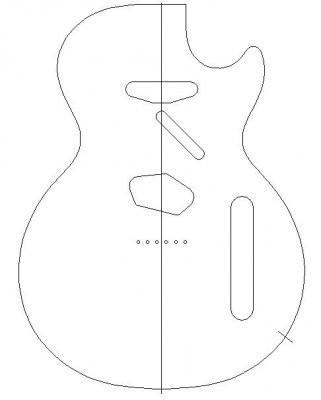 Fender Jaguar Body Template