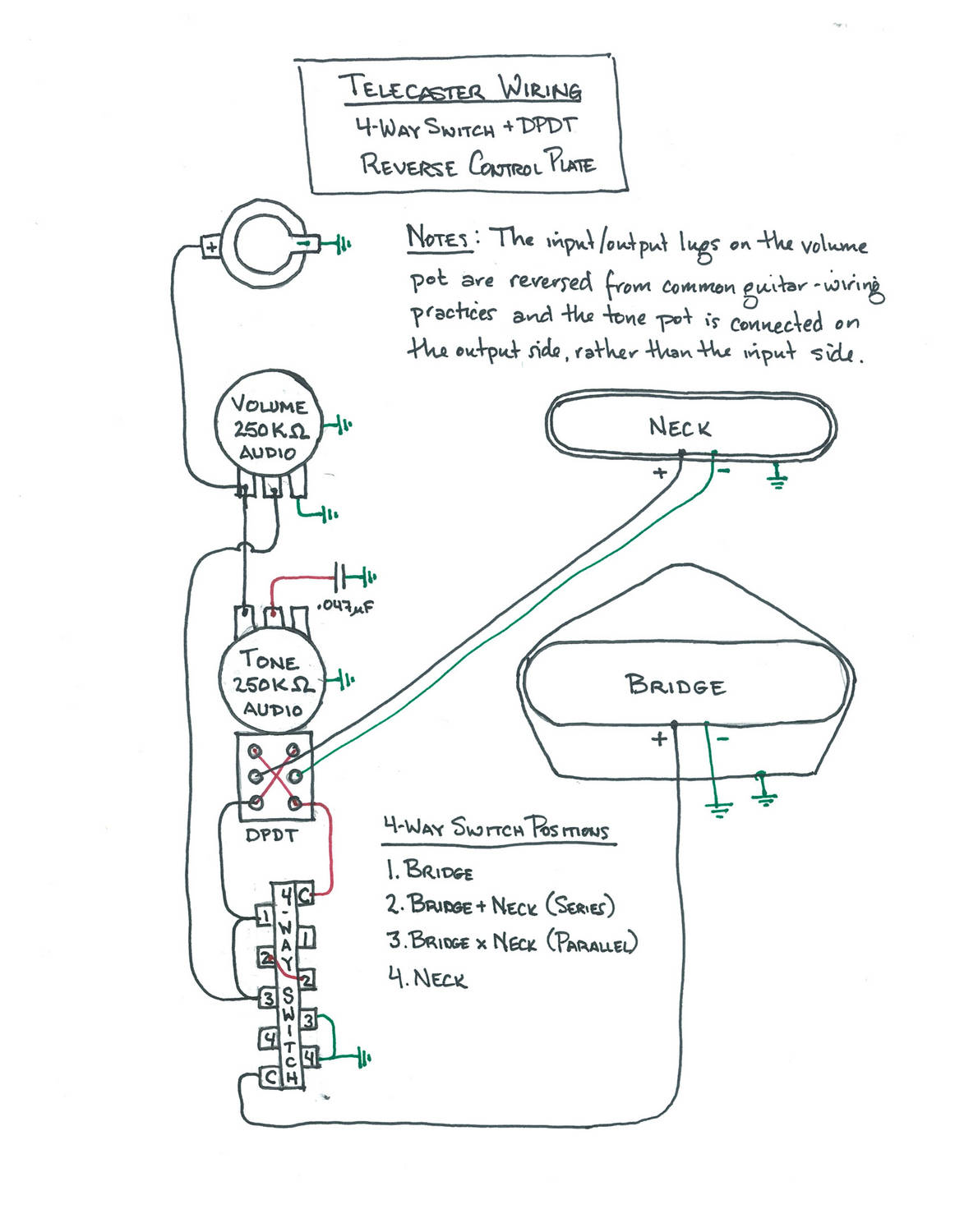 wiring diagram tele 4 way switch with dpdt reverse control plate [ 1162 x 1500 Pixel ]