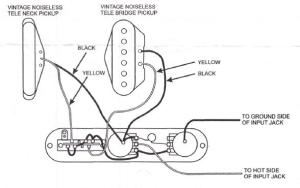 Vintage Noiseless wiring and treble bleed? | Telecaster