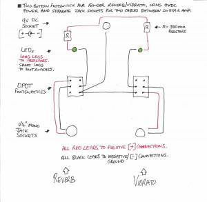 Wiring for Fender two button footswitch with LEDs? | Telecaster Guitar Forum