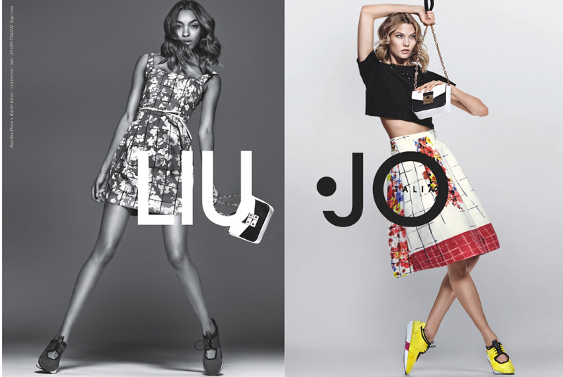 Jourdan Dunn and Karlie Kloss team up for the spring-summer 2016 campaign from Liu Jo. [Image: Chris Colls/Liu Jo]