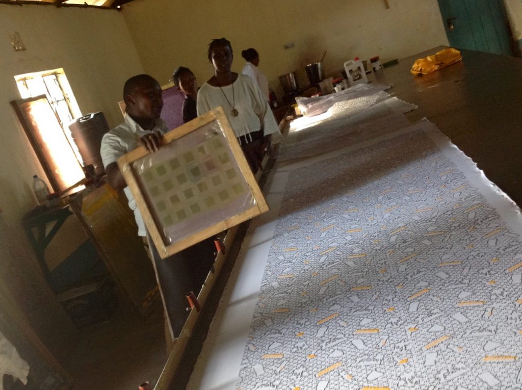 Printing Process [Image: Courtesy of Tosheka Textiles]
